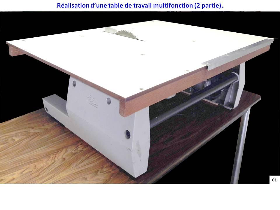 r alisation d une table de travail multifonction 2 partie. Black Bedroom Furniture Sets. Home Design Ideas